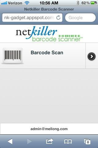 Netkiller Barcode Scanner App